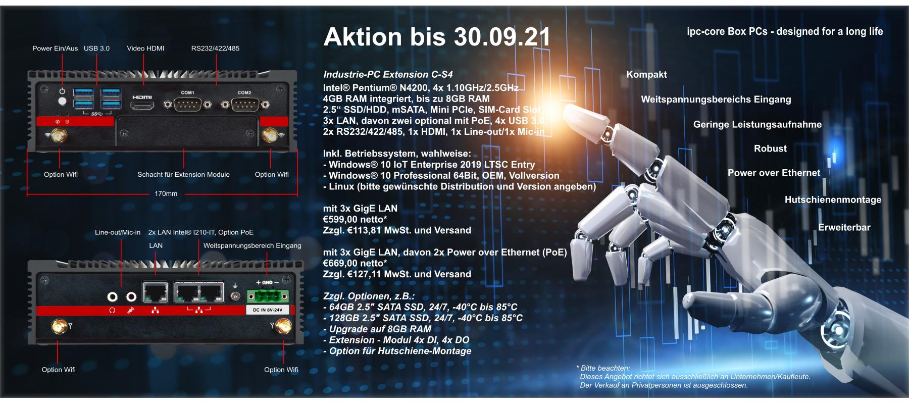 Industrie-PC Extension C-S4 Aktion Banner